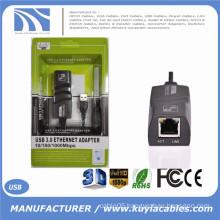 2016 New USB 3.0 10/100/1000Mbps Gigabit Ethernet USB To RJ45 External Network Card LAN Adapter For Windows XP/Vista/7/8 MAC OS