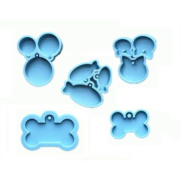 Пользовательские полимерные бирки для собак, силиконовые формы для пищевых продуктов