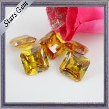 Гламур ярко-желтый Принцесса огранка Октагон кожа драгоценный камень