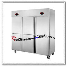 R130 6 Doors Double-Temperature Static Cooling/Fancooling Kitchen Freezer And Refrigerator