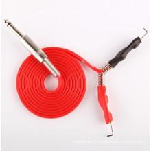Professional New Silica Gel Tattoo Power Supply Clip Cord Soft