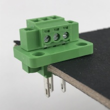 3pin through wall panel mounted plug-in terminal block