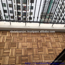 HIGH QUALITY WOODEN FLOOR TILES 300 X 300 X 19 MM/ OUTDOOR INTERLOCKING PLASTIC BASE DECK TILE