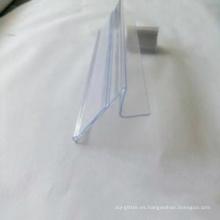 Etiqueta plástica transparente del pvc para el supermercado
