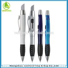 Multi функции рекламных прозрачные пластиковые ручки ножа на вершине