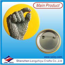 Impresión promocional Insignia de lata de botón con pin de seguridad