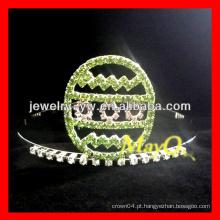Dia das Bruxas verde rhinestone ovo representação coroa