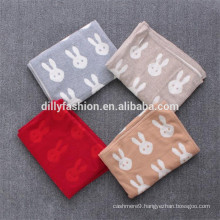 supply 100% cashmere blanket throw baby knitted blanket
