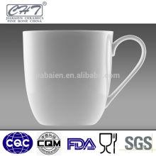 Taza de café blanca de la porcelana de la porcelana