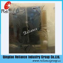 4mm / 5mm / 6mm Silber / Golden Art Glas / Deko Glas / Hotel Dekoration Glas / Acid geätztes dekoratives Glas