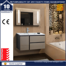Modern Wall Hung Bathroom Vanity Unit with LED Mirror
