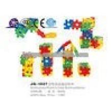 JQ1027 Preschool kids educational colorful plastic cube building blocks