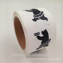 black printing Custom Vinyl Stickers for food
