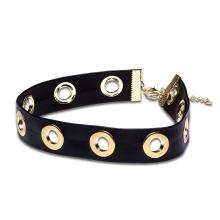 Weiche lederne Art- und Weisefrauen-Legierungs-Halskette