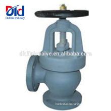 Kontrolle Hersteller Sanitary Check F7306 / 7308/7310 Gusseisen Winkel Typ Kugelventil Für Dampf 2cr13
