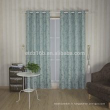 Nouvelle arrivée de haute qualité, petite conception de feuilles, 100% Linge de polyester, comme un rideau de fenêtre Jacquard