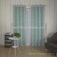 Nova chegada de alto gosto pequeno design folha 100% poliéster linho como cortina de janela Jacquard