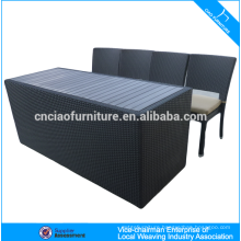 Elegant outdoor rattan bar furniture bar counter and stool (CF819T)