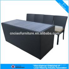 Элегантный открытый ротанга бар мебель барная стойка и стул (CF819T)