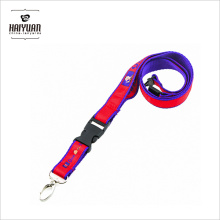 High Quality Double Layers Dye Sublimation Imprint Satin Lanyard