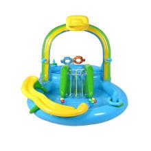 Piscina infantil inflável de centro de recreação aquática com escorregador