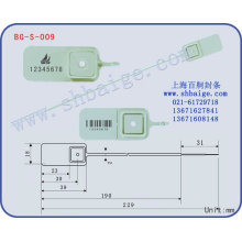 plastic seal BG-S-009, plastic security seal for bags use