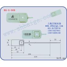 selo de plástico BG-S-009, selo de segurança de plástico para uso de sacos