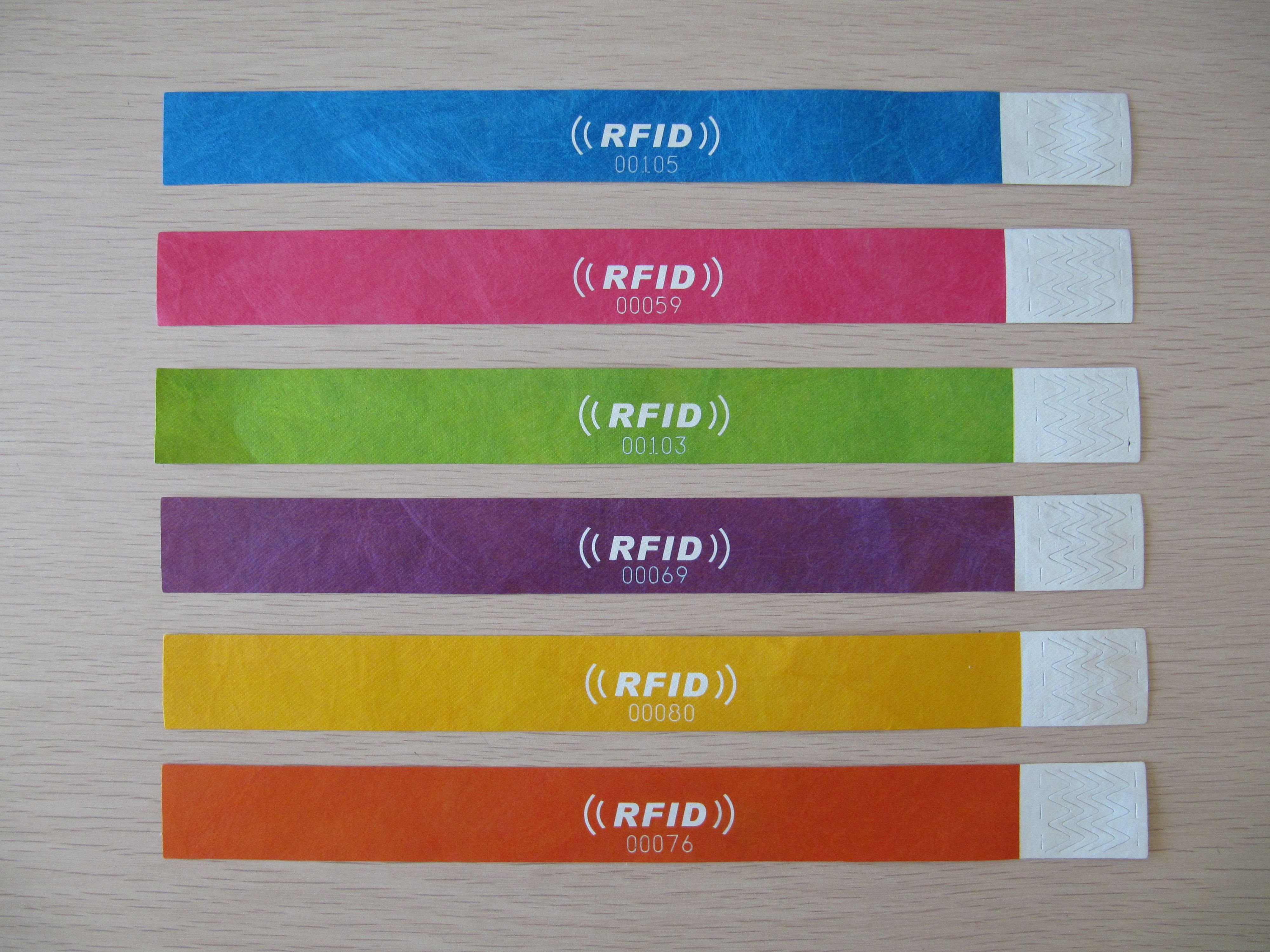 tyvek paper wristbands