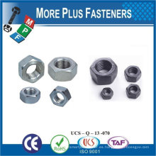 Hecho en Taiwán Acero inoxidable Latón Aluminio Silicona Bronce Hex máquina Tornillo Tuerca