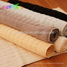 Alfombra de baño del hotel / alfombra de baño de algodón 100% toalla de baño del hotel jacquard