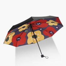High Quality Low MOQ Custom Logo Printed 5 Fold Pocket Umbrella with Bag Case