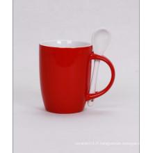 Tasse de café avec cuillère, tasse de cuillère de promotion