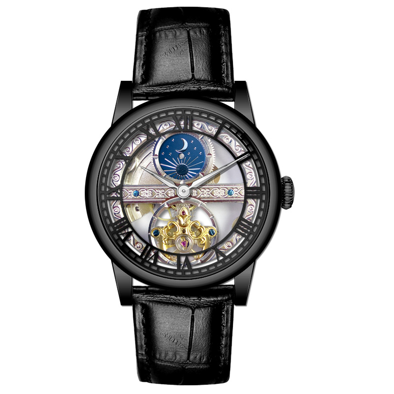 Custom Stainless Steel Automatic Tourbillon Watches