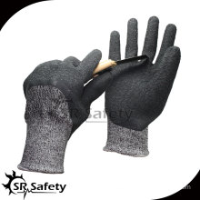 SRSAFETY 13G knitted liner coated pu on palm gloves cut resisitant glove