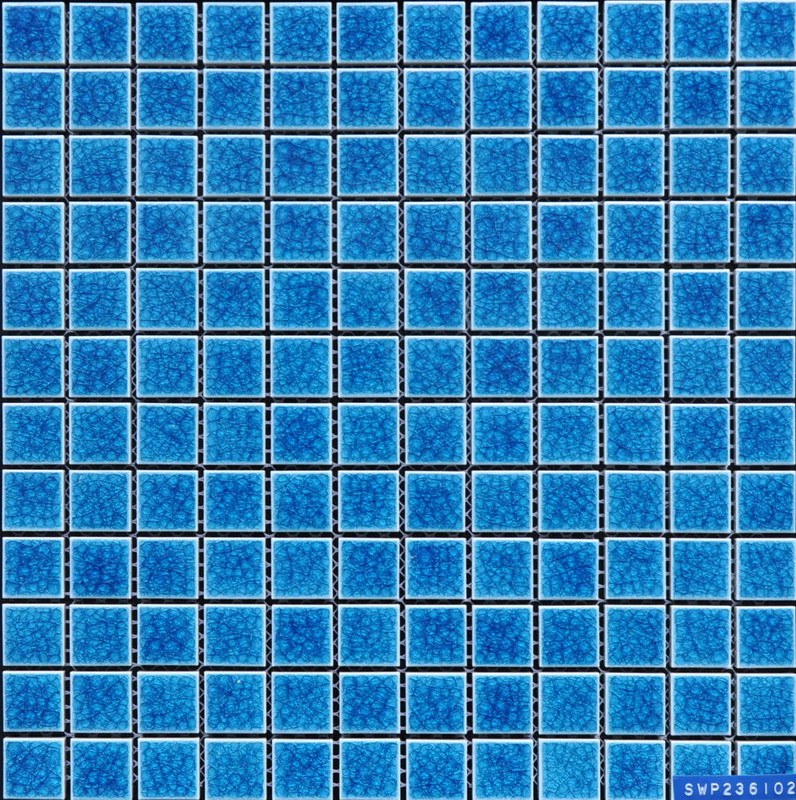 Blue Swimming Pool Porcelain Mosaic