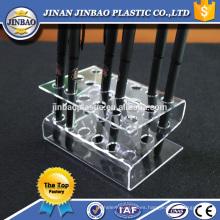 Jinbao venta al por mayor Clear Pen Display Stand Maquillaje cepillo cosmético soporte acrílico
