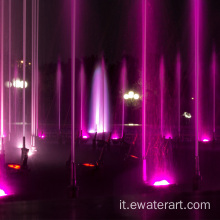 Ewaterart Music Fountain nel lago