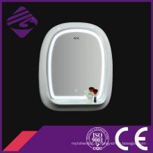 Arch Einseitiger Holzrahmen LED Badezimmerspiegel mit Uhr