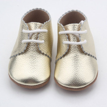 Lace-up Soft Sole Oxford lederen babysok