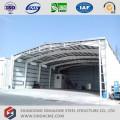 Hangar dos aviões da estrutura de aço pre da engenharia