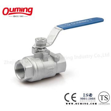 2PC Нержавеющая сталь резьба плавающий шаровой кран с ISO 9001 (OEM)