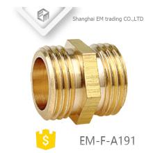 EM-F-A191 Encaixe de tubulação dobro do conector de bronze da rosca do sexo masculino