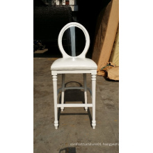 white wooden louis bar chair with acrylic backrest XYB0220
