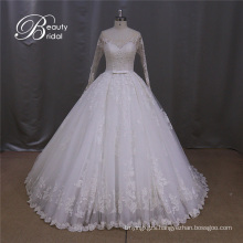 A-Line Bridal Dresses Alencon Lace Wedding Dress