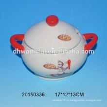 Серия кухонной посуды Monkey керамическая емкость для хранения с ручкой