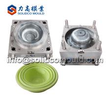 Wholesale injection laundry basket mould maker plastic basket mould supplier