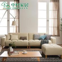 Sofá de couro moderno estilo japonês pequeno apartamento sala de combinação