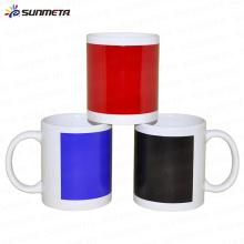 Sublimation tasse blanche avec changement de couleur de patch / tasse de changement de couleur locale / tasse magique / tasse de changement de couleur d'eau chaude en gros