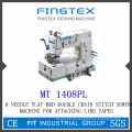 8-Needle Flat-Bed Double Chain Stitch Sewing Machine (1408PL)