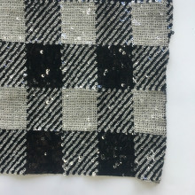 Elegant Square Printed Spangle Embroidery Fabric